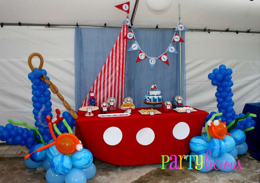 Sailor nautical birthday party ideas photo 1 of 22 catch my party
