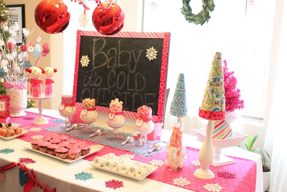 Winter Wonderland Snowflake Baby Shower Party Ideas Photo 3 Of 31