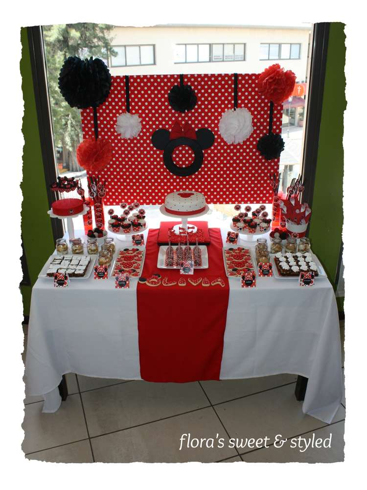 Minnie Mouse Birthday Party Ideas Photo 2 of 24 Catch My Party
