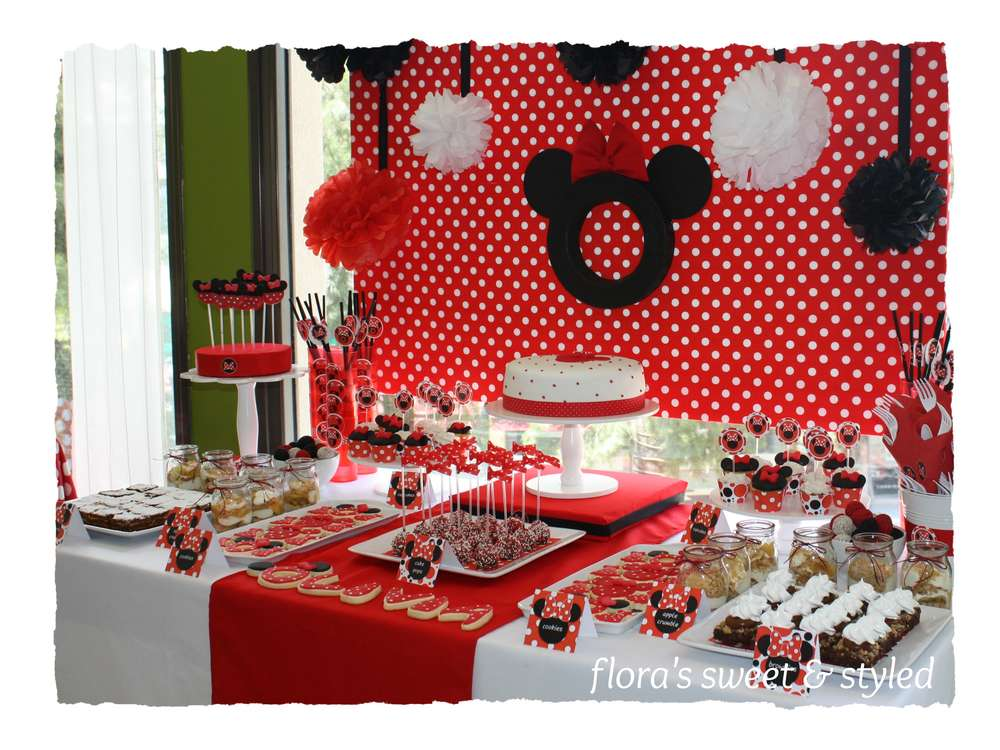 Minnie Mouse Birthday Party Ideas Photo 6 of 24 Catch My Party