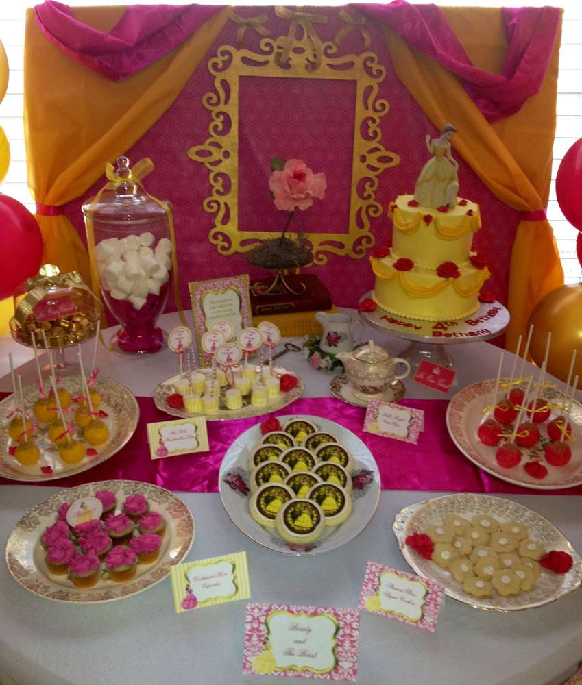 Beauty And The Beast Birthday Party Ideas Photo 24 Of 31 Catch