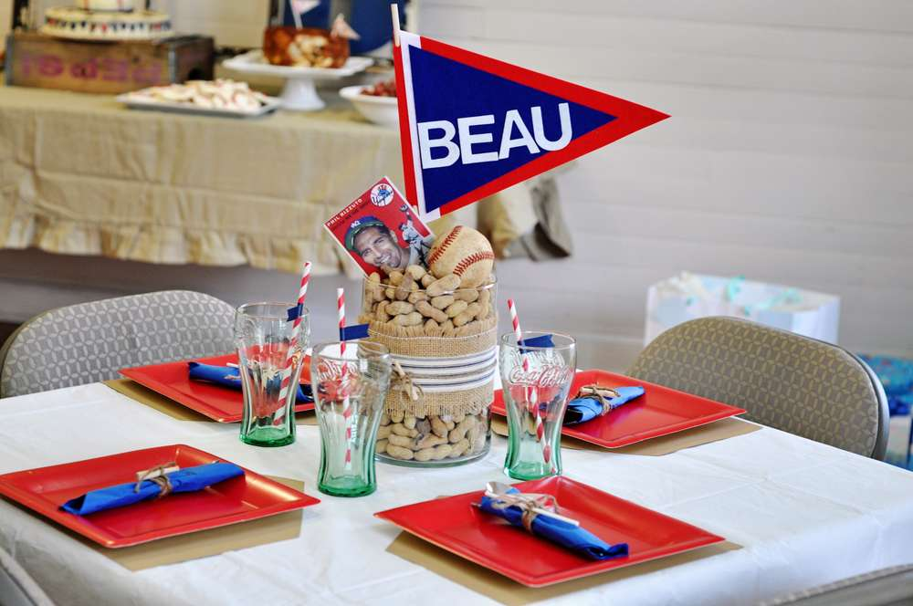 vintage baseball baby shower party ideas photo 2 of 20 catch my