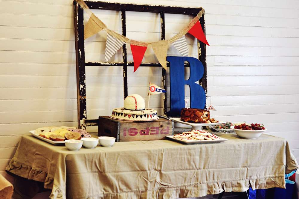 Vintage Baseball Baby Shower Party Ideas Photo 11 Of 20 Catch My