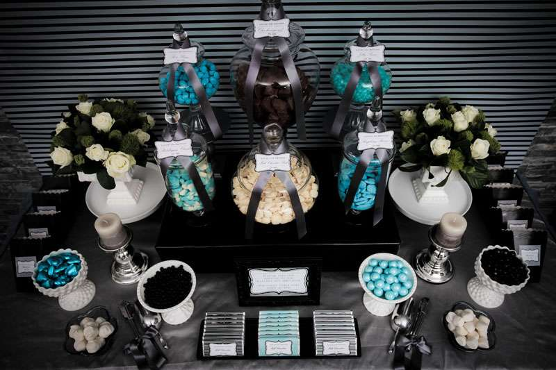 wedding decorations and favors sophisticated black silver amp blue birthday ideas 9079