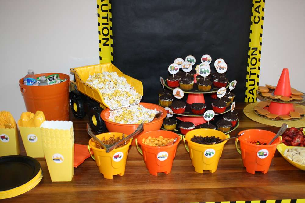 Construction Birthday Party Ideas Photo 5 Of 18 Catch