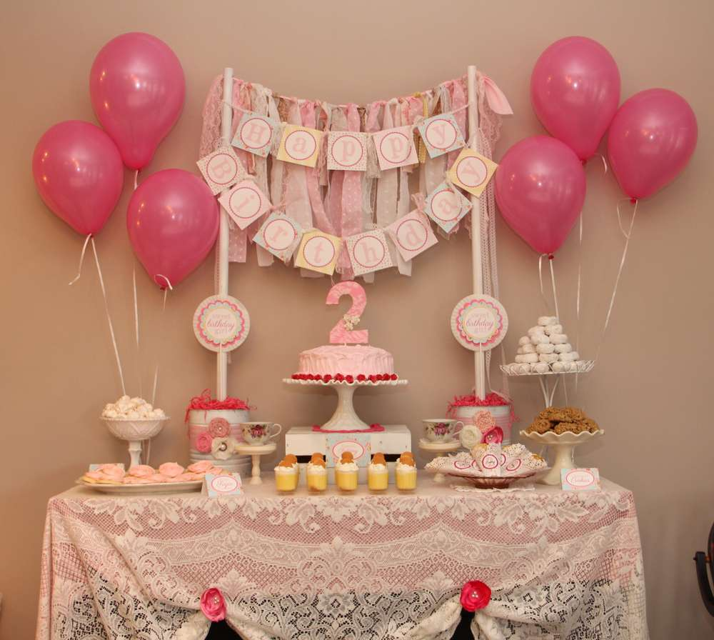 Shabby Chic Birthday Party Ideas Photo 1 Of 20 Catch My Party