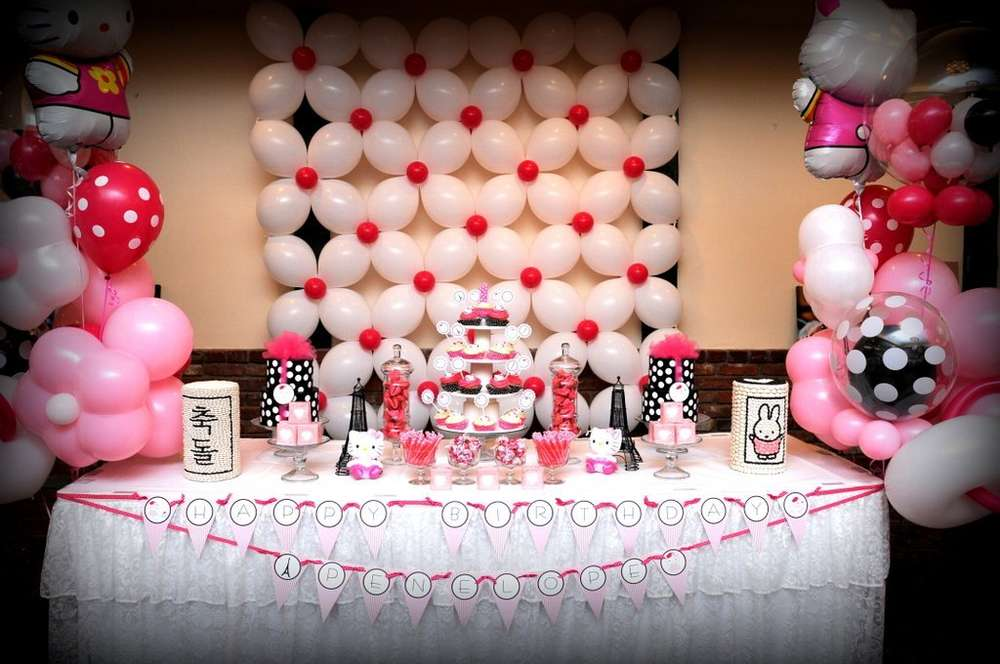 Hello Kitty in Paris Birthday Party Ideas Photo 1 of 11 Catch My