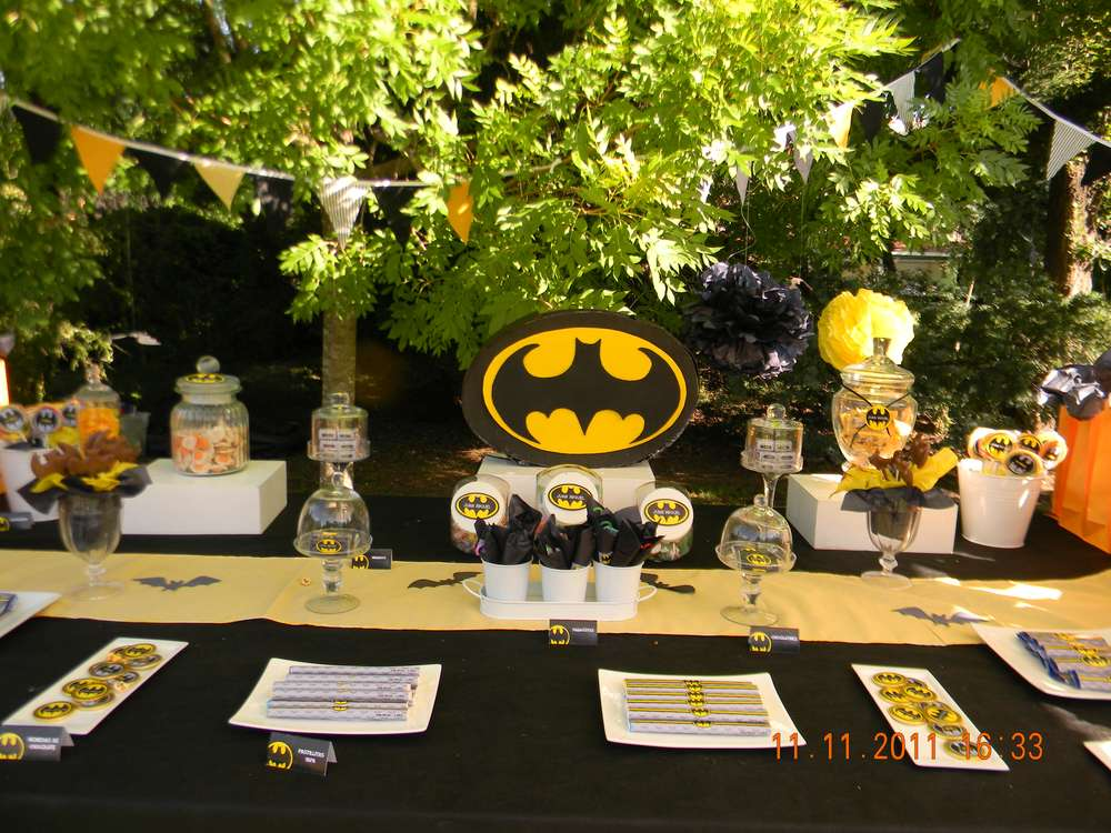 Batman Birthday Party Ideas Photo 9 of 29 Catch My Party