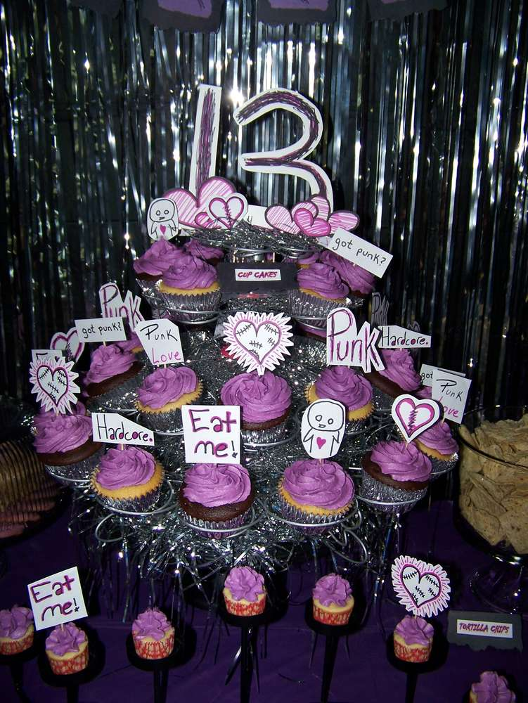 Punk Graffiti Blacklight Pink Purple Birthday Party
