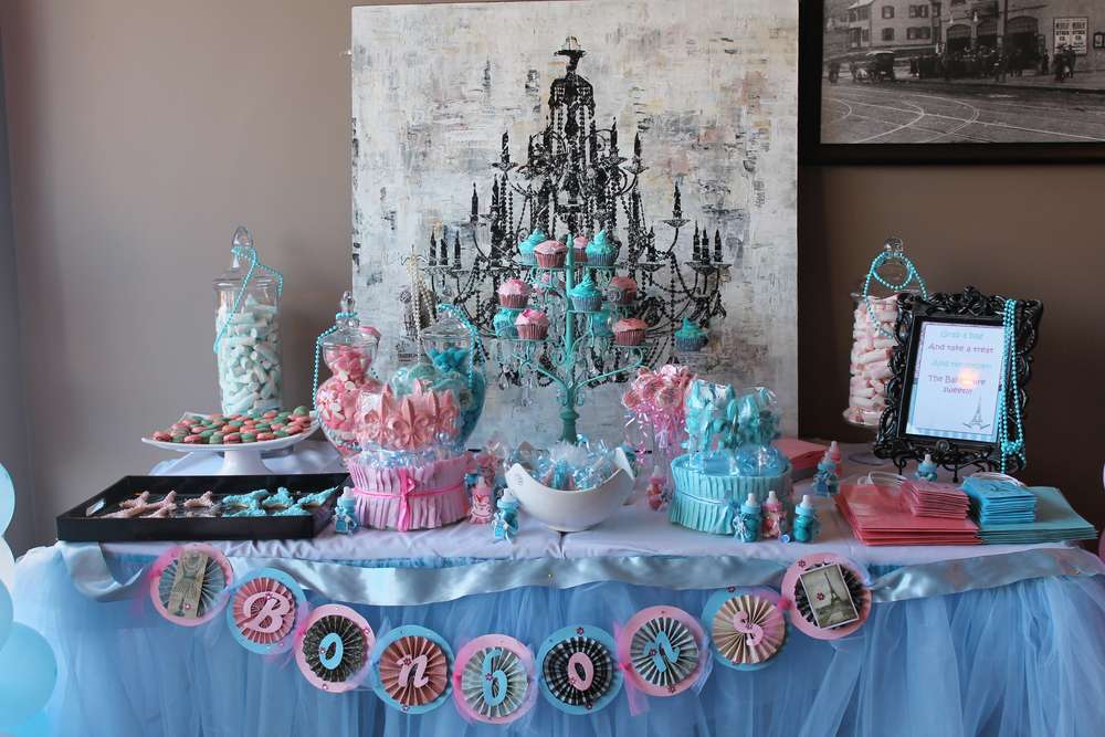 Parisian Bebe Shower/Gender Reveal Party