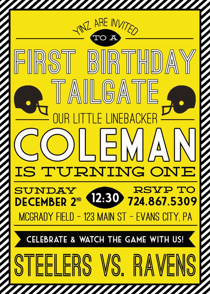 Steelersfootball pittsburgh birthday party ideas photo 2 of 36 our little linebacker is one learn more about this party filmwisefo
