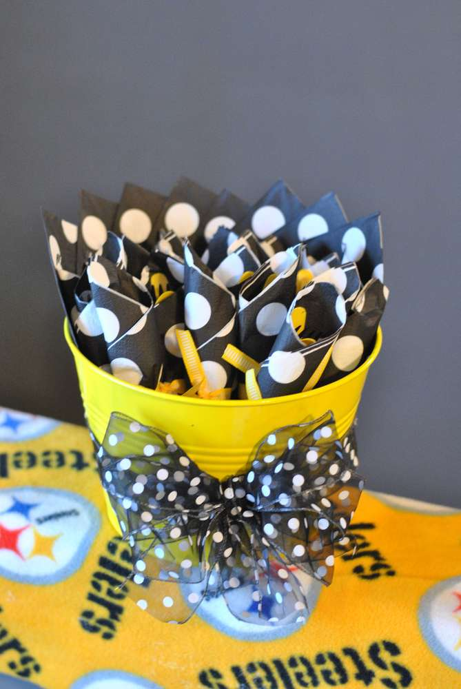 Steelersfootball pittsburgh birthday party ideas photo 3 of 36 our little linebacker is one learn more about this party filmwisefo