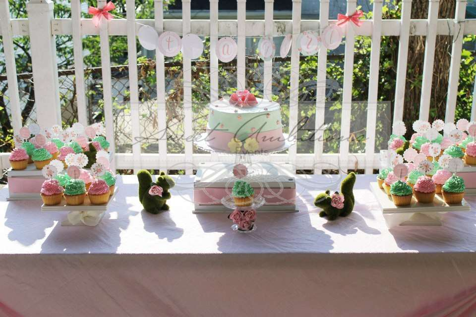 vintage bunny shabby chic baby shower party ideas photo 1 of 7
