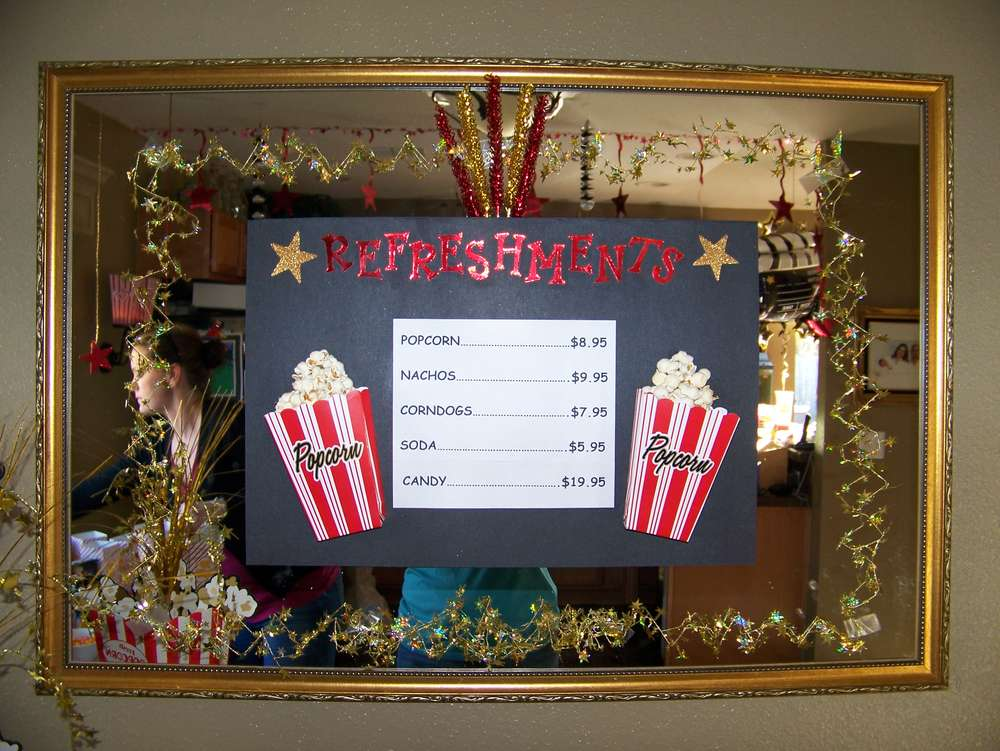 Movie Theater Birthday Party Ideas Photo 1 Of 17 Catch My Party