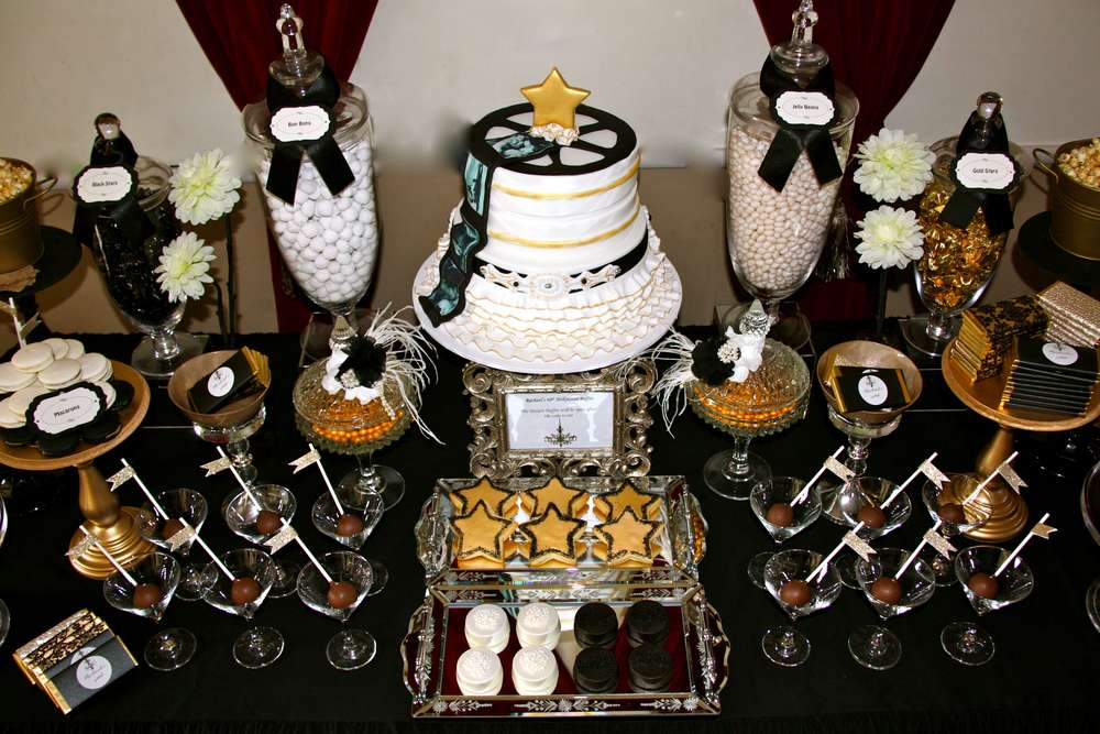 Old Hollywood Glam Birthday Party Ideas Photo 11 Of 21 Catch My