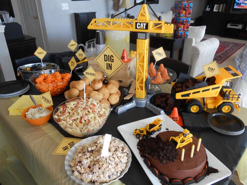 Construction Party Birthday Party Ideas Photo 1 Of 12