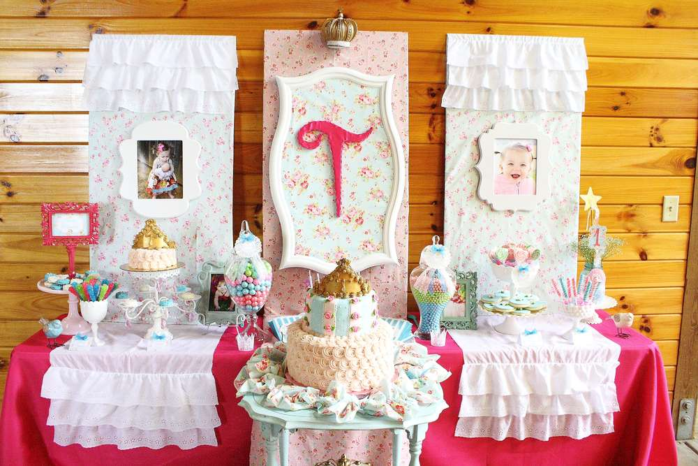 Shabby Chic Baby Princess 1st Birthday Party