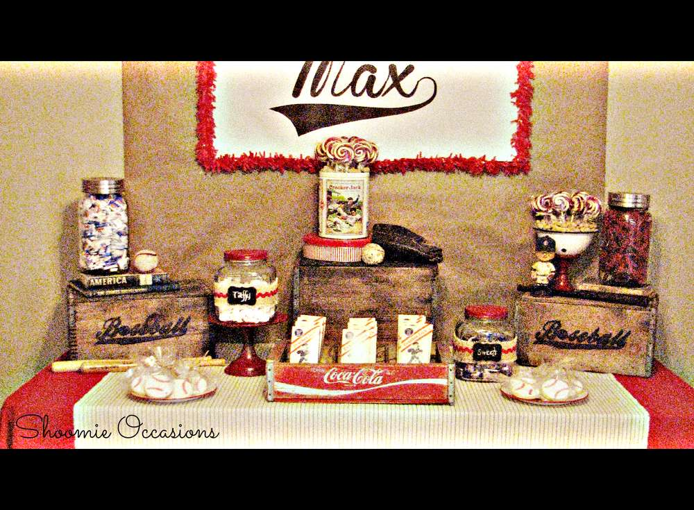 Vintage Baseball Birthday Party Ideas Photo 5 Of 28 Catch My Party