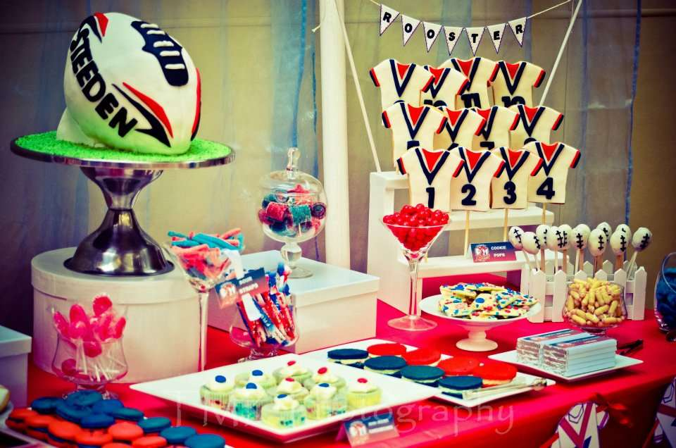 Image result for nrl football birthday party table