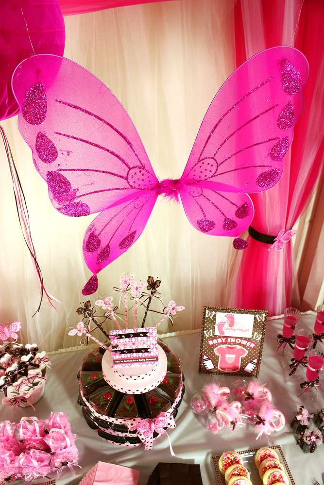 Butterfly Theme For Baby Shower Part - 45: Welcome Baby Girl