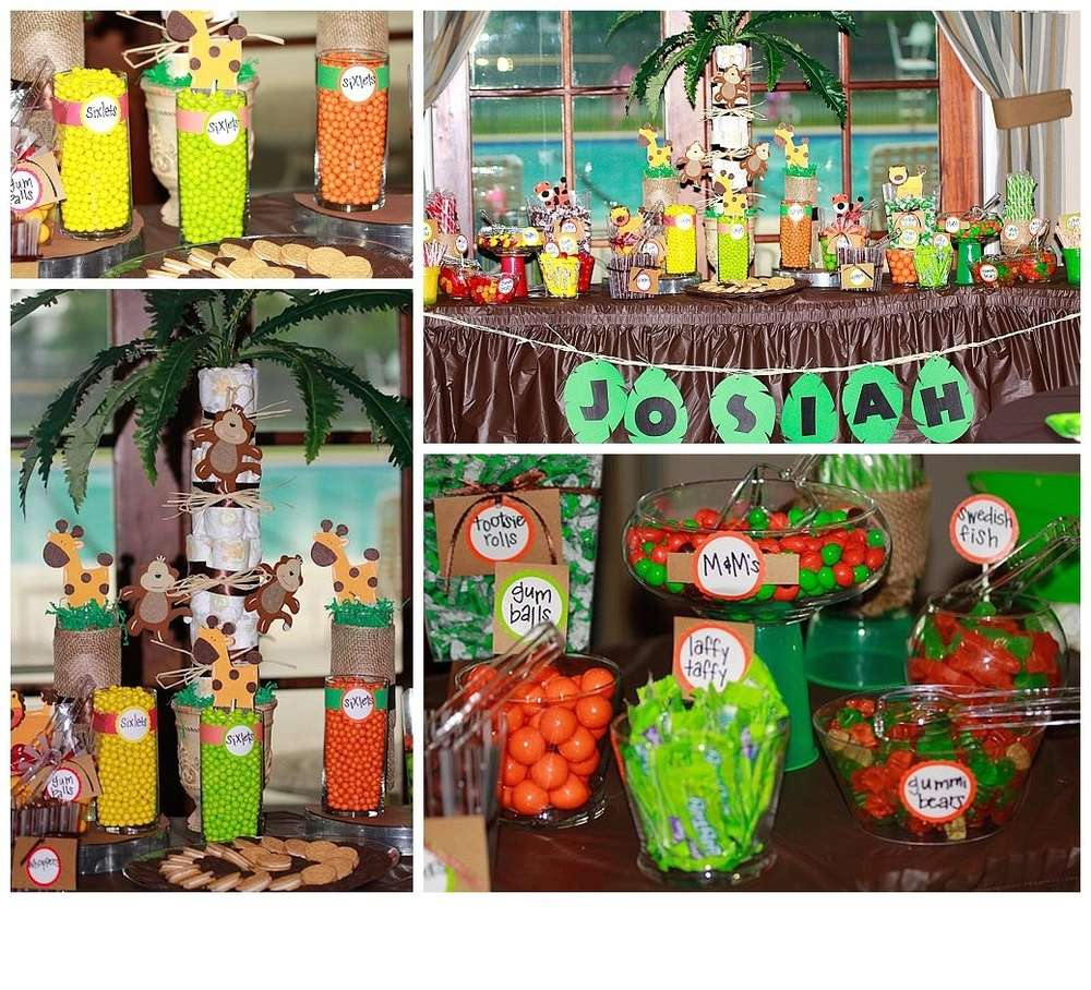 Candy For Baby Shower Ideas: Jungle, Safari, Animals Baby Shower Party Ideas