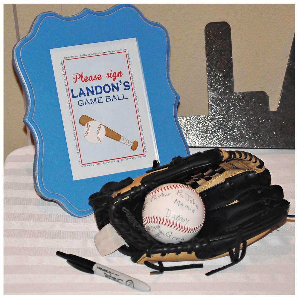 Baseball Birthday Party Ideas Photo 3 Of 6 Catch My Party