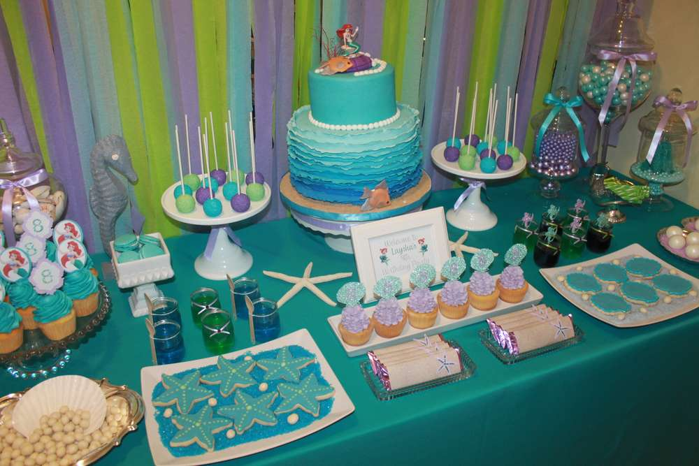 The Little Mermaid Birthday Party Ideas Photo 1 Of 30 Catch My Party