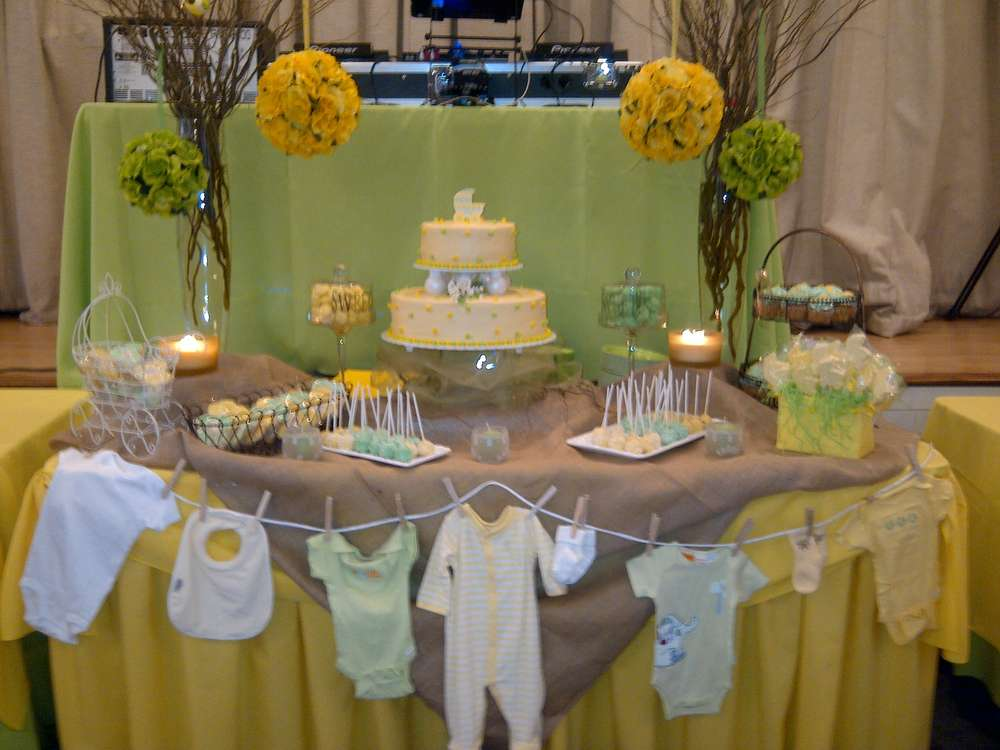 Yellow And Green Rustic Baby Shower