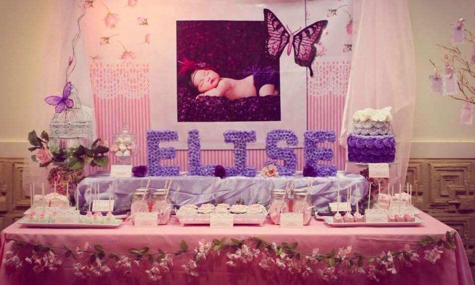 Sweet butterfly party baptism party ideas photo 1 of 24 for Baby girl baptism decoration ideas