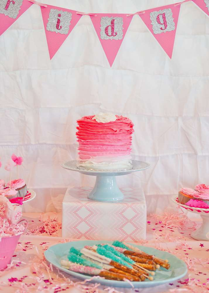 Pink Ombre Birthday Party Ideas Photo 1 Of 25 Catch My
