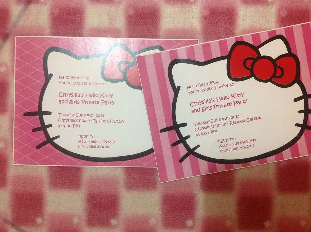 Hello kitty birthday party ideas photo 13 of 18 catch my party chrysilla 7th birthday party filmwisefo