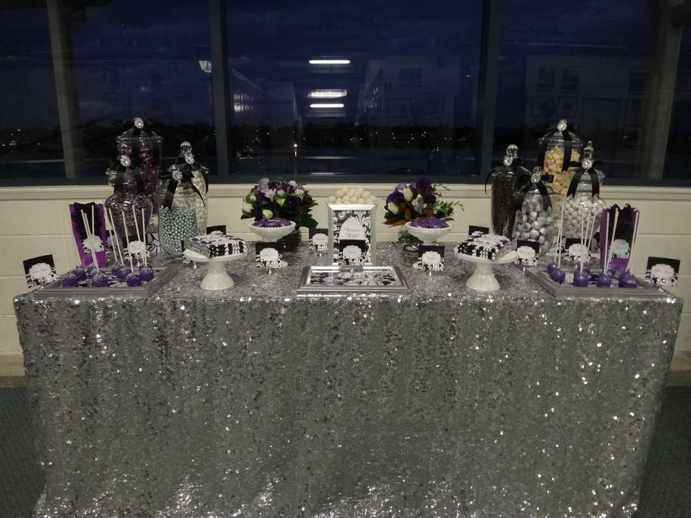 Purple Black White And Silver Birthday Party Ideas