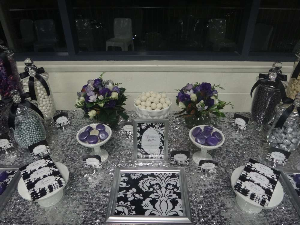 Fresh Purple, Black, White and Silver Birthday Party Ideas | Photo 1 of  TM61