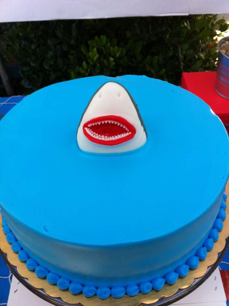 Jaws Birthday Party Ideas Photo 34 Of 41 Catch My Party