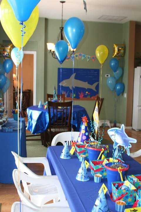 Sharks Birthday Party Ideas Photo 3 Of 28 Catch My Party