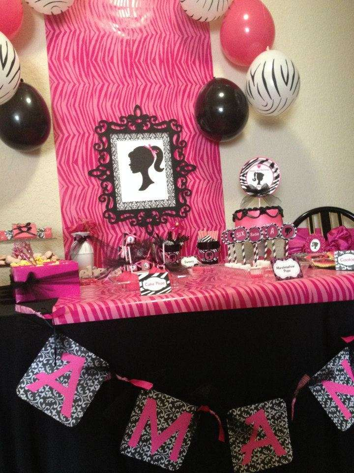 Chic Barbie Slumber Party Birthday Party Ideas Photo 1