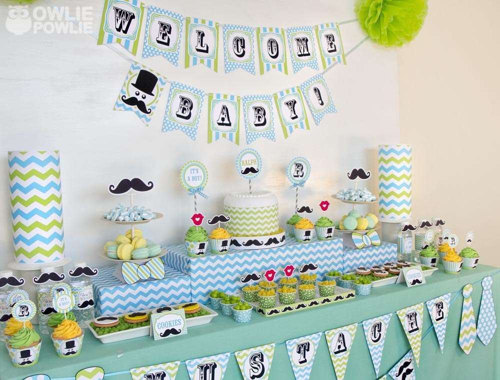Little Man Mustache Bash Baby Shower Party Ideas Photo 3 Of 21