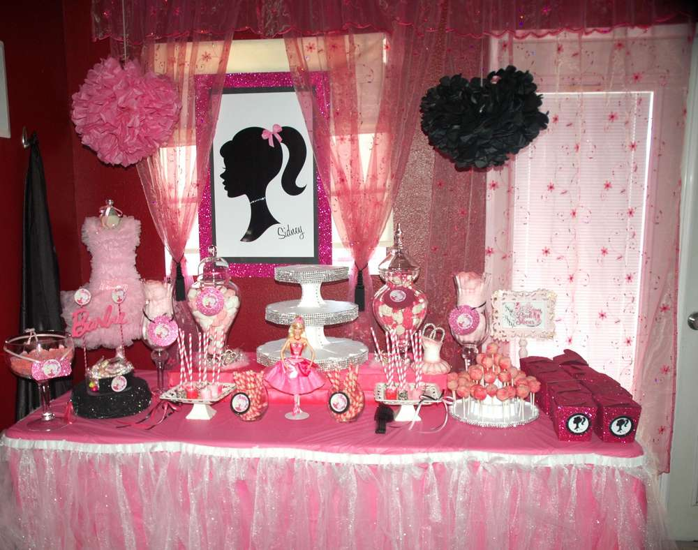 Barbie Pink Shoes Birthday Party Ideas Photo 3 of 49 Catch My Party