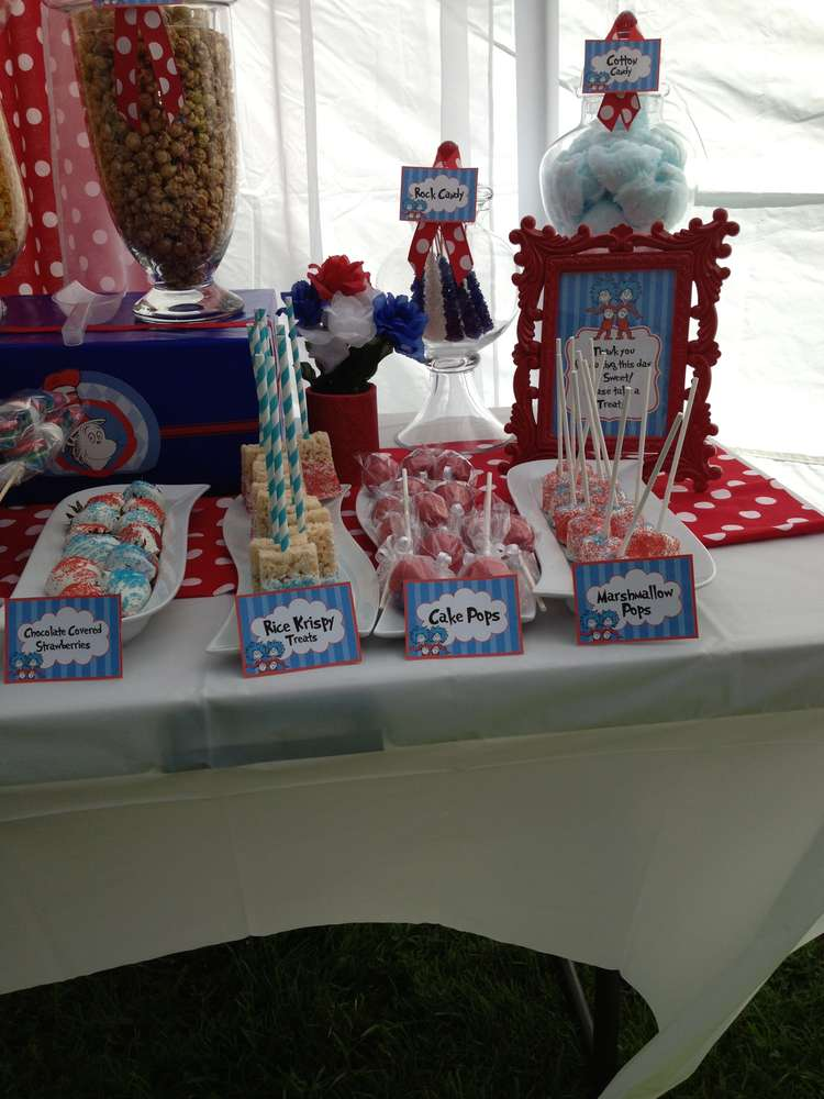 Thing 1 Thing 2 Baby Shower Party Ideas Photo 3 Of 5 Catch My Party