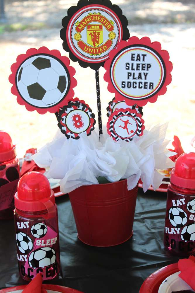 Baby Showers Manchester ~ Manchester united soccer party birthday ideas