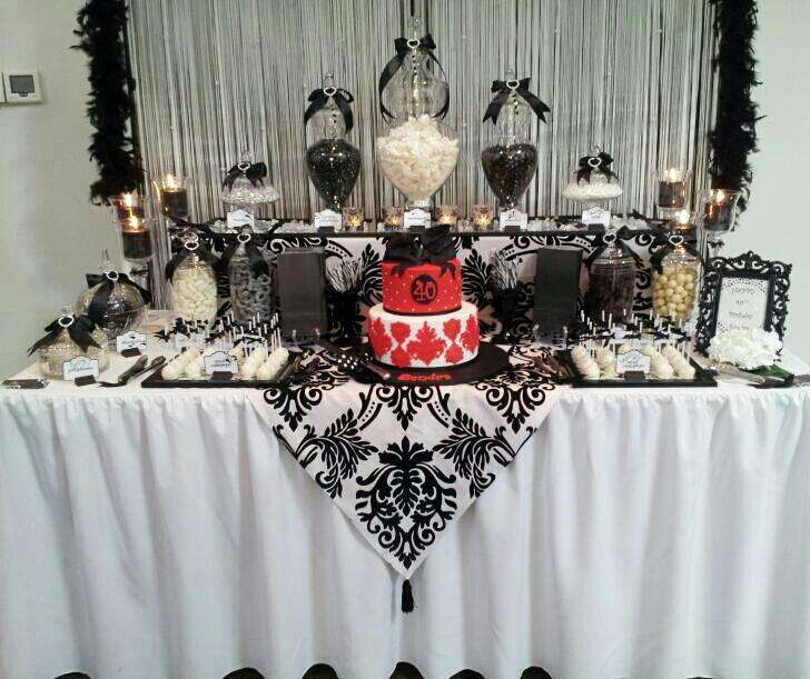 Black and White Birthday Party Ideas Photo 11 of 12 Catch My Party