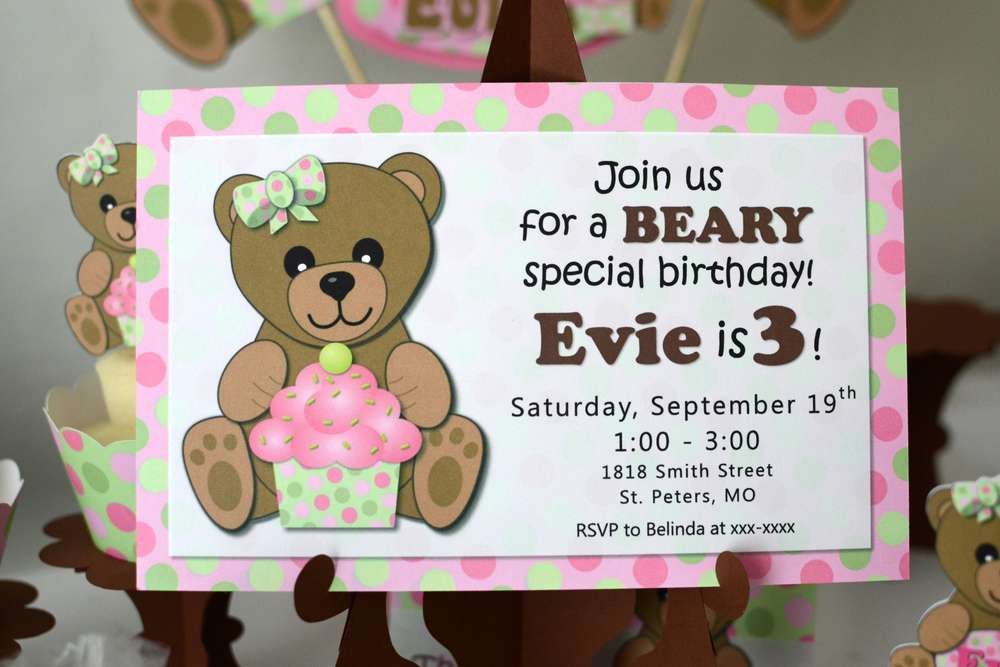 Girl teddy bear birthday party ideas photo 1 of 8 catch my party previous filmwisefo