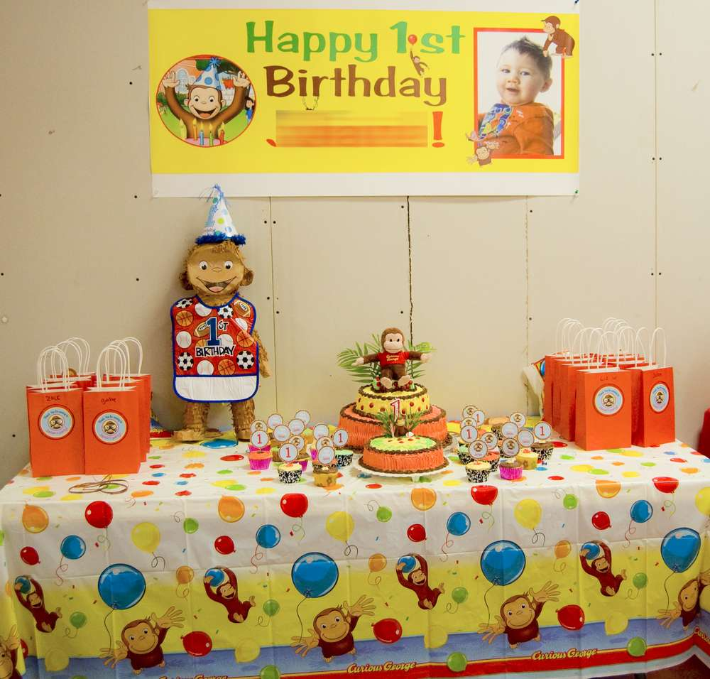 Awesome Curious George Birthday Party Ideas Photo 5 Of 12 Catch My Party Personalised Birthday Cards Beptaeletsinfo