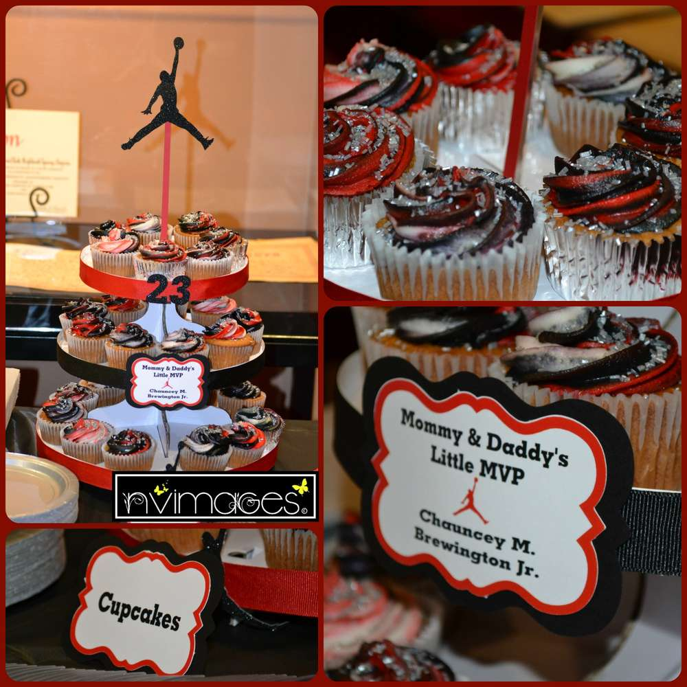 Michael Jordan Jumpman Baby Shower Party Ideas Photo 1 of 23