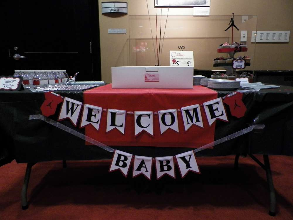 michael jordan jumpman baby shower party ideas photo 5 of 23 catch