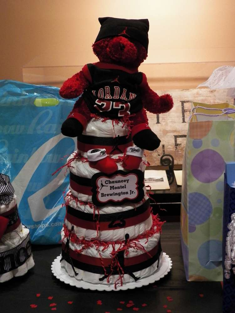 michael jordan jumpman baby shower party ideas photo 1 of 23 catch