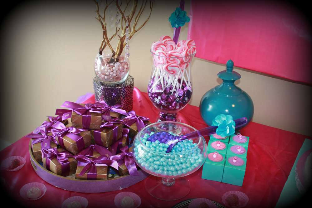Pink Purple Turquoise, Itu0027s A Girl Baby Shower Party Ideas | Photo 3 Of 23  | Catch My Party
