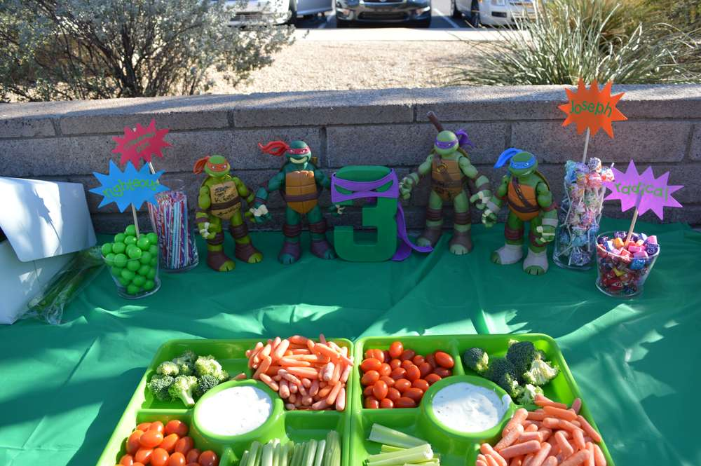 Teenage Mutant Ninja Turtles Birthday Party Ideas | Photo 1 of 9 ...