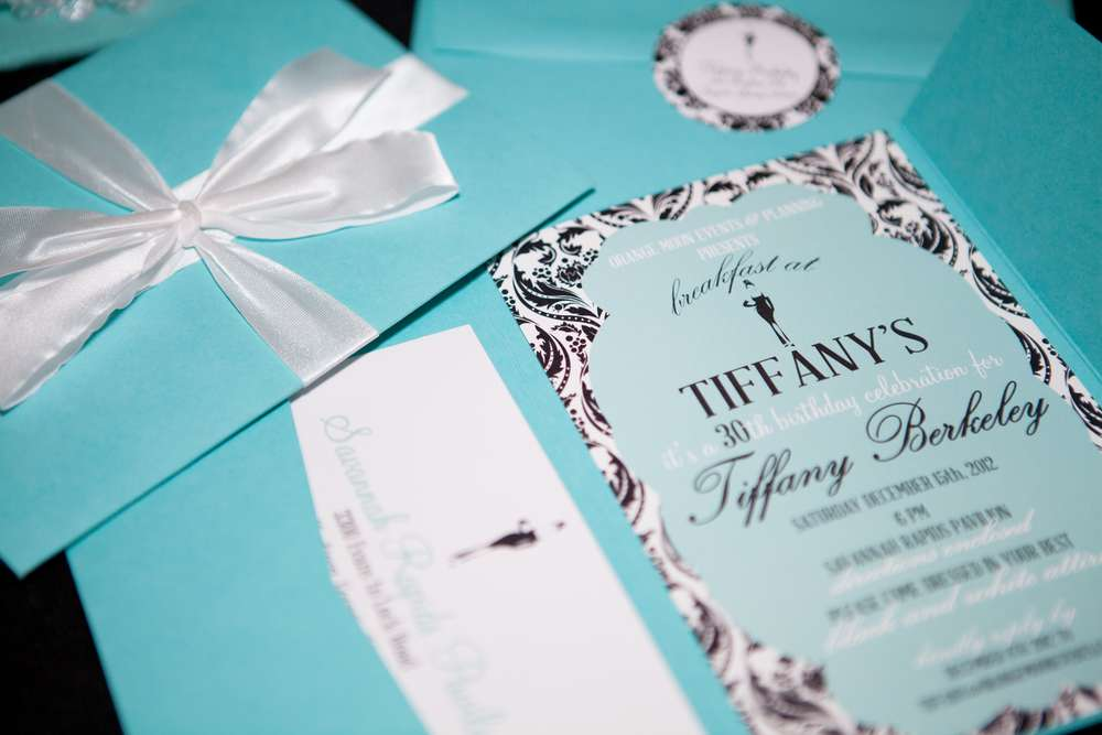Breakfast At Tiffanys 30th Birthday Party