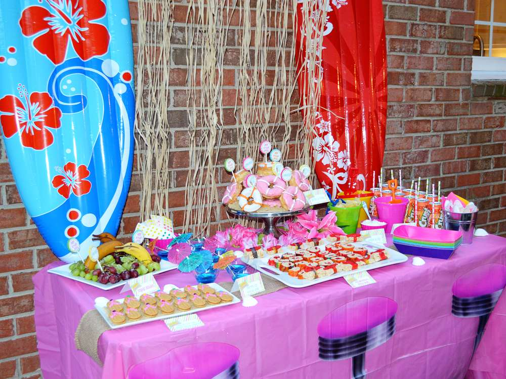 Disney Teen Beach Movie Surf Birthday PArty Party Ideas